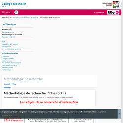 Méthodologie de recherche, fiches outils - Méthodologie de recherche - COLLEGE MATHALIN