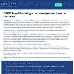 : OSINT la méthodologie de renseignement sur les menaces