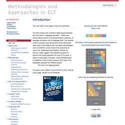 Methodologies and Approaches in ELT