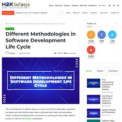 Different Methodologies in Software Development Life Cycle -