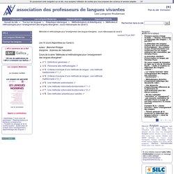 Méthodes et méthodologies pour l'enseignement des langues étrangères : cours vidéoscopés de canal-U