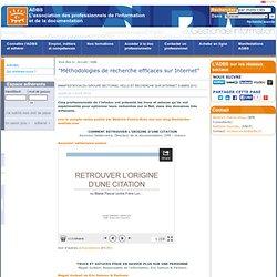 """""""Méthodologies de recherche efficaces sur Internet"""""""
