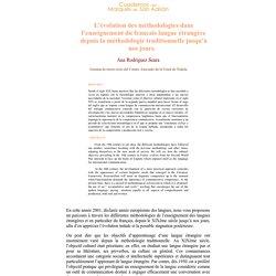 L'évolution des méthodologies dans l'enseignement du français langue étrangère depuis la méthodologie traditionnelle jusqu´à nos jours - Ana Mª Rodríguez Seara