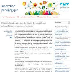 Pistes méthodologiques pour développer des compétences collaboratives en enseignement supérieur