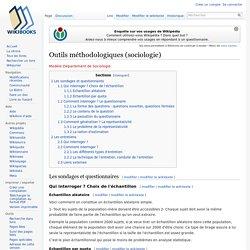 Outils méthodologiques (sociologie)