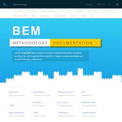 Methodology / BEM. Block, Element, Modifier / BEM