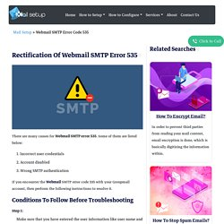 Simple Methodology To Resolve Webmail SMTP Error 535