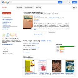writing research methodology pdf kothari