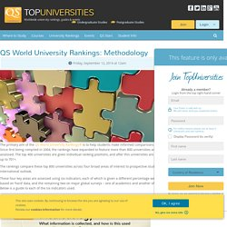 QS World University Rankings: Methodology
