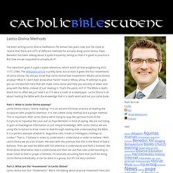 Catholic Bible Student: Lectio Divina Methods