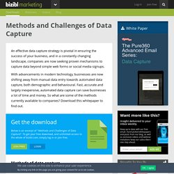 Methods and Challenges of Data Capture