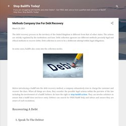 Methods Company Use For Debt Recovery