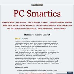 Methods to Remove Conduit