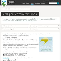 Methods of pest control: Animal pests