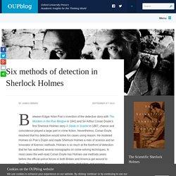 Six methods of detection in Sherlock Holmes