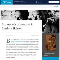 Six methods of detection in Sherlock Holmes