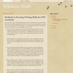 Methods to Develop Writing Skills for PTE Academic