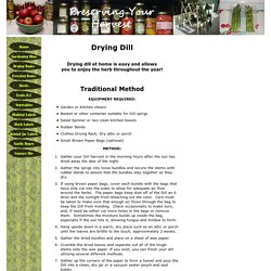 Methods of Drying Dill