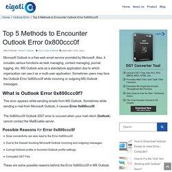 Top 5 Methods to Encounter Outlook Error 0x800ccc0f - DIY Guide