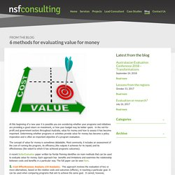 6 methods for evaluating value for money