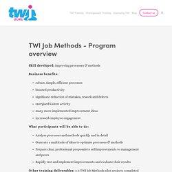 TWI Job Methods