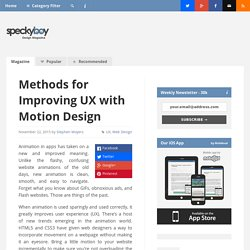 7 Methods for Improving UX with Motion Design