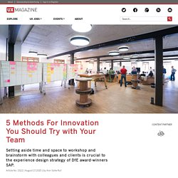 5 Methods For Innovation You Should Try with Your Team