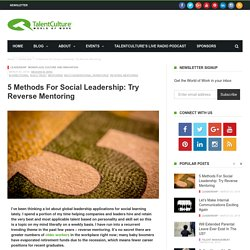 5 Methods for Social Leadership: Try Reverse Mentoring