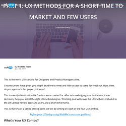 UX Methods: Short Time to Market and Few Users - WalkMe Blog