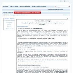 Méthologie juridique pour les étudiants