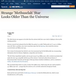 Strange 'Methuselah' Star Looks Older Than the Universe - Technology & science - Space - Space.com