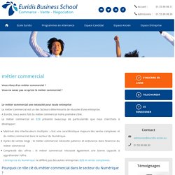 métier commercial - Ecole Euridis