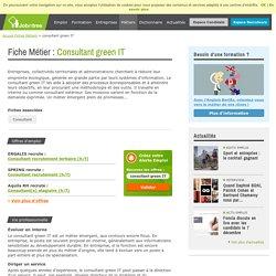 Métier consultant green IT