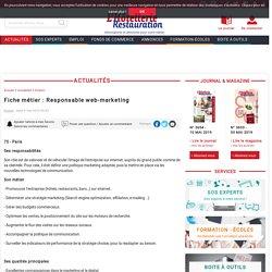 Fiche métier : Responsable web-marketing