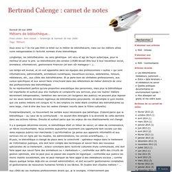 Bertrand Calenge : carnet de notes
