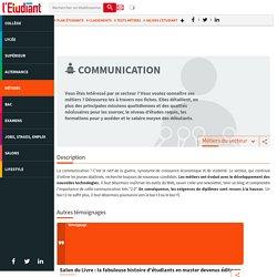 Les métiers de la communication - L'Etudiant