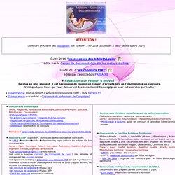 METIERS DE LA DOCUMENTATION - CONCOURS