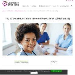 Top 10 des métiers dans l'économie sociale et solidaire (ESS)