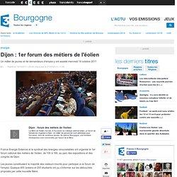 1er forum des métiers de l'éolien - Economie