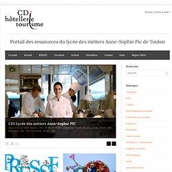 CDI Lycée des métiers Anne-Sophie PIC Hôtellerie et Tourisme, Toulon