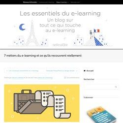 7 métiers du e-learning : descriptifs de poste