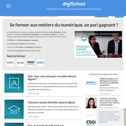 Métiers du numérique : Fiches métiers et détails du secteur