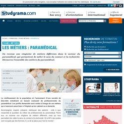 Fiches Métiers : Paramédical - Studyrama.com