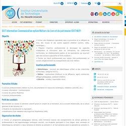 DUT MLP - Métiers du Livre et du patrimoine - Aix - IUT d'Aix-Marseille