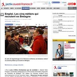 Emploi. Les cinq métiers qui recrutent en Bretagne