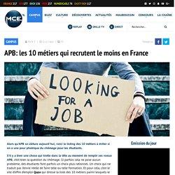 APB: les 10 métiers qui recrutent le moins en France