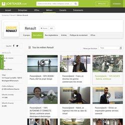 Les métiers de Renault en vidéo sur JobTeaser