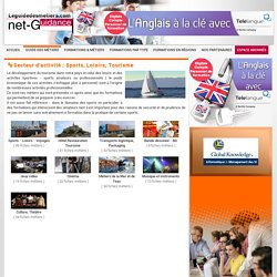 Les métiers du secteur Sports, Loisirs, Tourisme - Le Guide Des Métiers