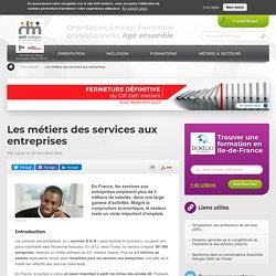 Les métiers des services aux entreprises