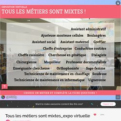 Tous les métiers sont mixtes_expo virtuelle by suzanne.profdoc on Genially